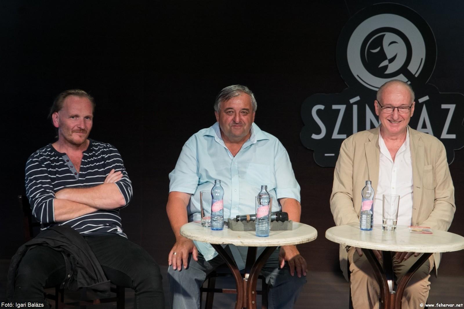 Hargitai Iván, Szigli István és Szikora János a sajtótájékoztatón