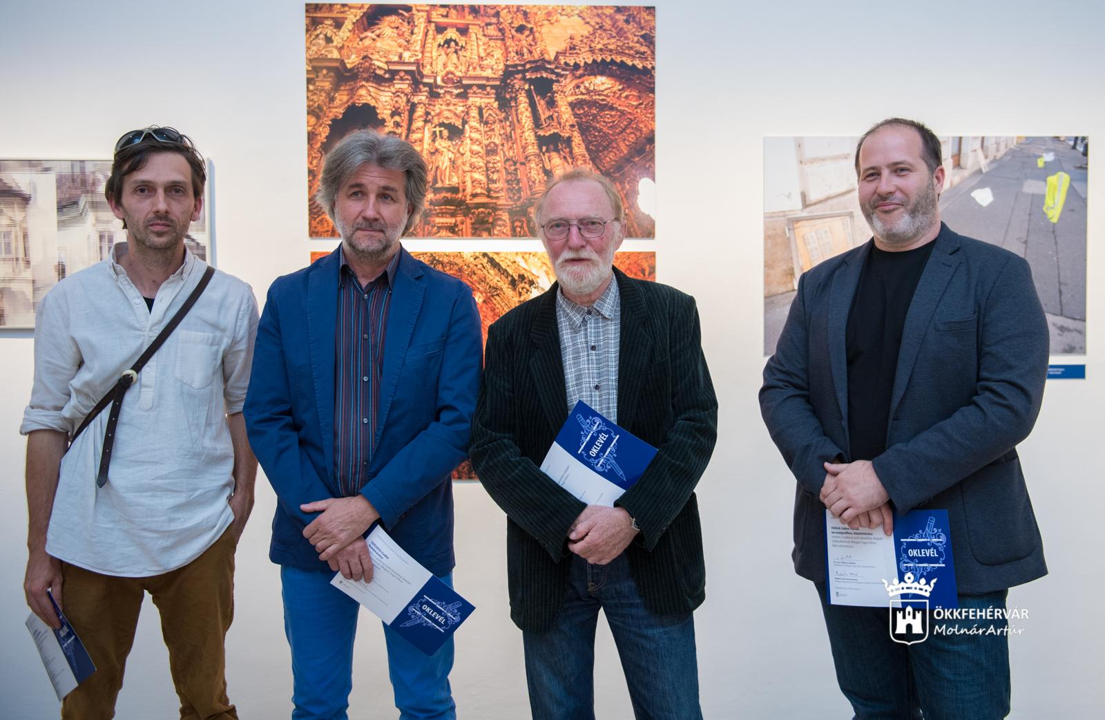Négyen az öt díjazott közül: Mosberger Róbert, Szegedi Csaba, Pinke Miklós és Varga Gábor Farkas